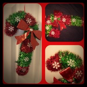 2 Green & Red Hanging Candy Canes